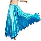 ROYAL SMEELA Jupe de Danse du Ventre pour Femme Costume de Danse du Ventre Flamenco Volants Grandes Jupes d'oscillation Mascarade Taille Elastique Jupe Longue Fendue Haute Robe