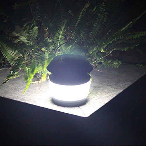 GutReise Multifonctionnel Ultrasons Insectifuge Portable Solaire Alimenté Rue Lumière Étanche IP54 80LM Extérieure Nuit Lampshades Lumière avec Lampe Anti-Mosquito & Fonction Lumière Extérieure