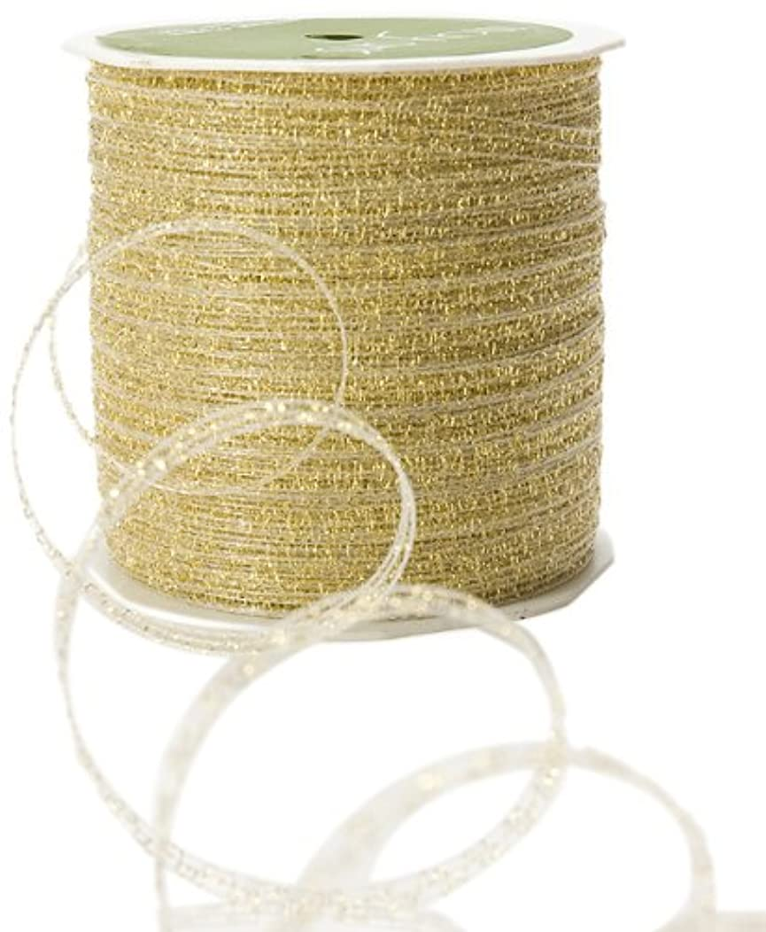 May Arts 1/8-Inch Wide Ribbon, Gold Curly Sparkling