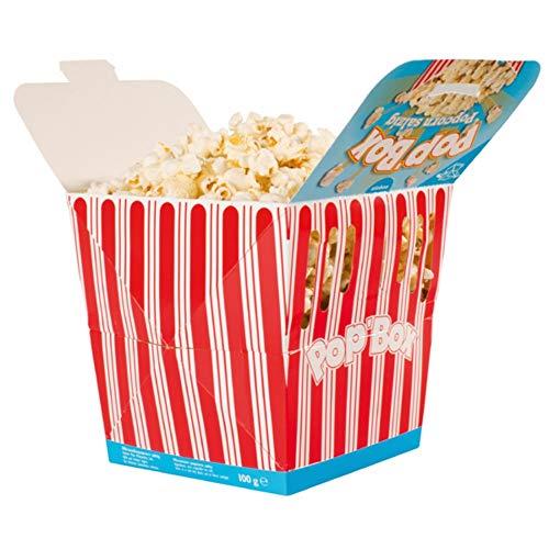 Aperisnack® - AP03.016.02 Pop Box Salati 100g (1 Box) - Secchiello di Pop-Corn Salati per Micro onde pronti in pochi minuti