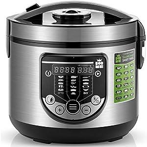 Forme Robot de Cocina Multifunción Capacidad 5 litros Programable hasta 24h Cocina Automáticamente 17 Menús Preconfigurados y Función Mantener Caliente hasta 24h I Incluye Cubeta Antiadherente