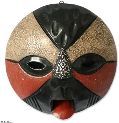 Amazon.com: NOVICA decorativo aluminio Madera Máscara ...