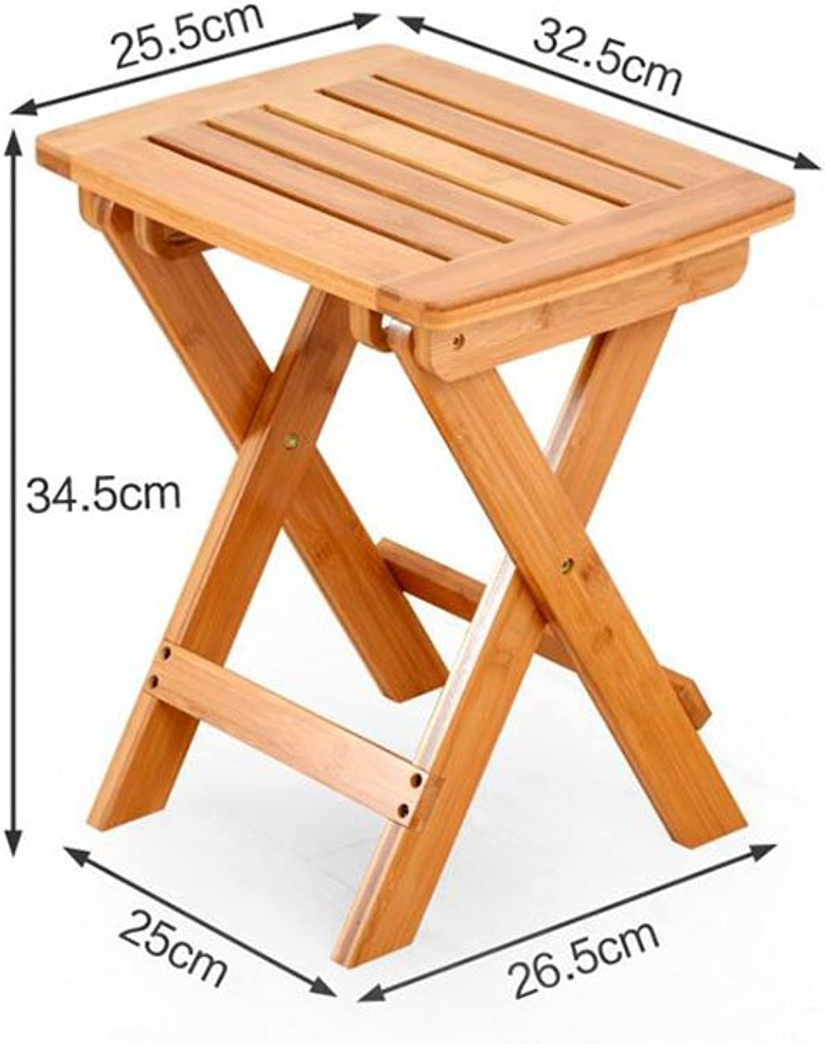 CJC Wooden Stool Dining Chair Computer Chair Collapsible Medium Size Home Office Furniture Kitchen (color   2)