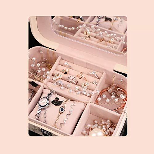 Decoratieve box Sieraden kast PU leer sieraden doos Princess sieraden opbergdoos oorbellen Storage Box Gift van de Verjaardag Wedding Maat: 22 * 14.5 * 7cm grote sieraden doos Juwelendoos