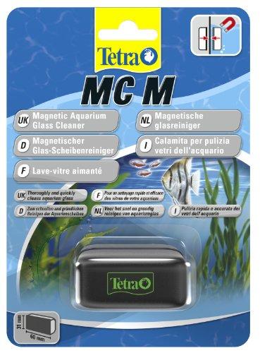 Tetra MC Magnetischer Scheibenreiniger für das Aquarium, Scheibenmagnet für eine schnelle und einfache Aquarium Reinigung, Größe M (geeignet bis 5 mm Glasstärke)
