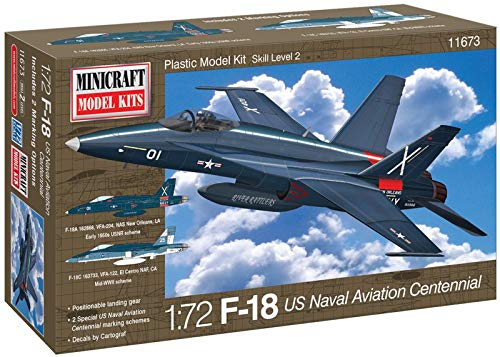 Minicraft Models Dempsey Designs Morceau modèles 1 : 72 échelle modèle F-18 US Aviation Navale Centennial Kit