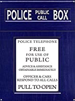 警察のパブリックコールボックス。ブリキの看板ヴィンテージ鉄の絵画金属板ノベルティ装飾クラブカフェバー。
