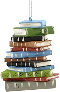 1 X School Book Stack Ornament