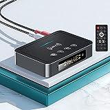 Adaptador Bluetooth 5.0, POMME M6 NFC Transmisor Receptor Bluetooth Audio 3 in 1 Dongle Bluetooth, RCA/AUX 3.5 mm Jack Adaptador Bluetooth Coche para PC, TV, Teléfonos Inteligentes-Plug and Play