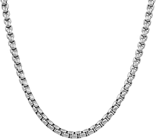 Nakabh Elegant Statement Necklace Stainless Steel Chain