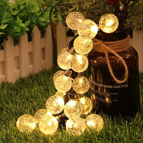 Guirnalda Luces Marvelights Cristal Sueño Solar Impermeable Interior y Exterior 50 Led para Gardin Navidad Fiesta Decorativas Colores y Blancas LED Iluminado por 10000 Horas