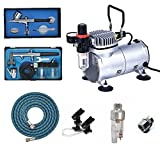 ABEST Airbrush Compressor kit Plus Airbrushing Accessories – air hose, airbrush holders, mini