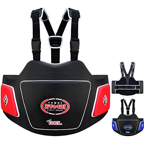 Farabi Body Shield Belly Protector Abdomen Protector Ribs Protector Abdominal Guard Belly Protectio (Red Black)