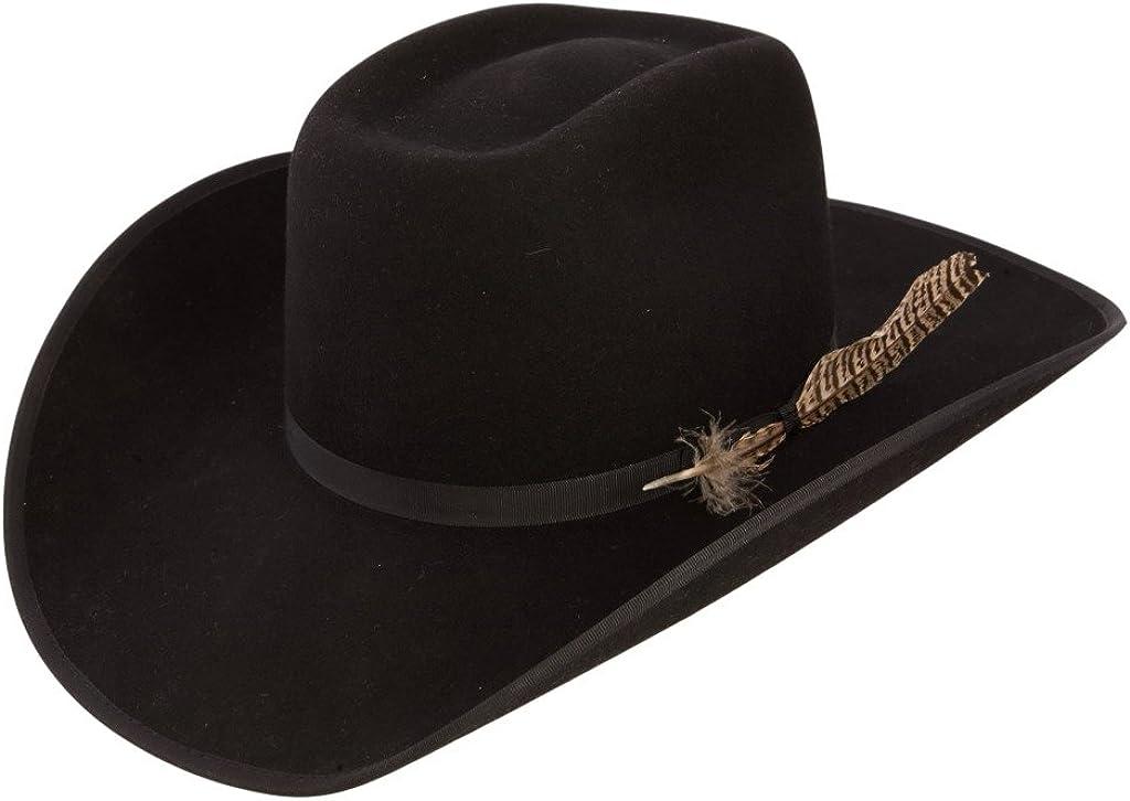 RESISTOL Mens 4X Tuff Hedeman Regular dealer Holt Ranking TOP9 B Cowboy Black Hat Felt