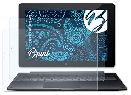 Bruni Schutzfolie kompatibel mit Odys Windesk X10 Folie, glasklare Bildschirmschutzfolie (2X)