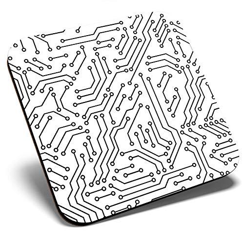 Gran posavasos cuadrado – Placa de circuito eléctrico Tech Geek | Posavasos...