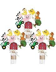 WERNNSAI Palitos de Centro de Mesa de Fiesta de Granja - 27 PCS DIY Tarjetas de Centro de Mesa de Animales de Granja Decoraciones de Fiesta de Recortes de Corral para Cumpleaños de Niños Baby Shower