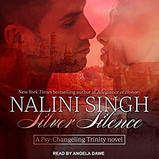 Silver Silence     Psy/Changeling Trinity Series, Book 1              By:                                                                                                                                 Nalini Singh                               Narrated by:                                                                                                                                 Angela Dawe                      Length: 16 hrs and 1 min     929 ratings     Overall 4.7