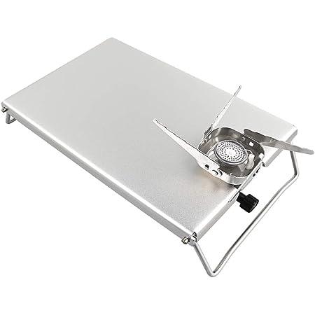 Keepjoy イワタニ ジュニアコンパクトバーナー 遮熱板 テーブル CB-JCB 専用 高強度アルミニウム合金製 折畳式 専用収納袋が付属