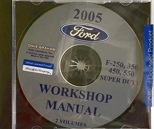 2005 FORD TRUCK FACTORY REPAIR SHOP And SERVICE MANUAL CD For F-250, F-350,...