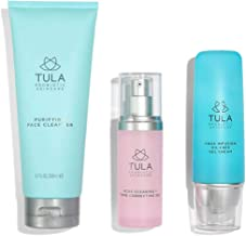 TULA Probiotic Skin Care Acne Clearing Kit - Effective 3 Piece Acne Regimen, No Irritation, Dryness, or Flakiness