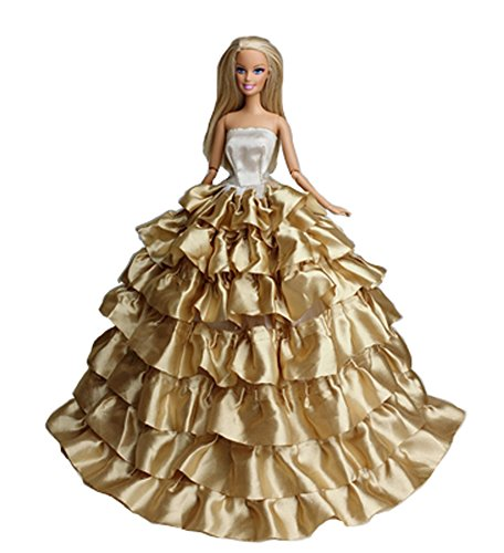 Brautkleid für 11 '' Puppen-Spitze-Kleid-Puppe Kleidung Handgemachte Kuchen und