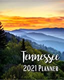 Tennessee 2021 Planner: Weekly & Monthly Agenda   January 2021 - December 2021   Sunrise Great Smoky Mountains In Tennessee Gatlinburg National Park ... Organizer And Calendar, Pretty and Simple