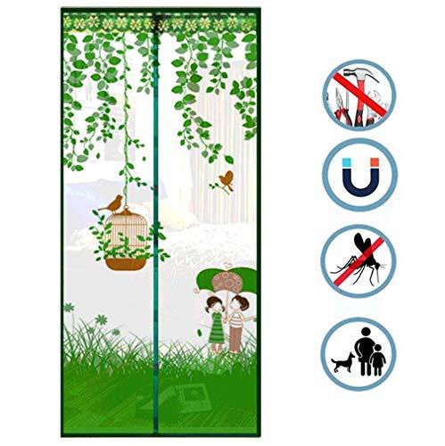 Mesh Gordijn Klamboe, Magnetische Vliegen Insect Deur Screen Voor Patio, Tuin, Balkon, Slaapkamer Deuren Enz. 90 * 220Cm