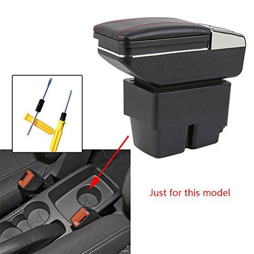 Para 2009-2017 F ord Fiesta 3 MK7 Auto Apoyabrazos Consola Central Reposabrazos Accesorios Negro