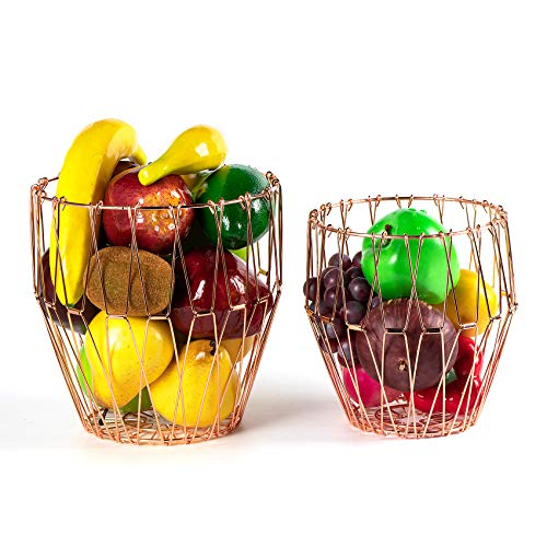 2Pcs Flexible Fruit Vegetable Basket - For Storage - Kiwi - Fruit - Banana - Pears - Potato - Onion - Bread Food Organizer, Living Room Decoration, Family Gift