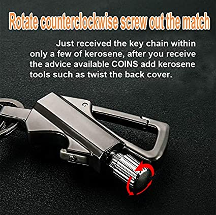 Lighter Key Ring And Bottle Opener ZCVF Flint And Steel,novelty Lighters,portable Reusable Three-in-one Multi-function Match Igniter Barbecue Used In Kitchen Candle.