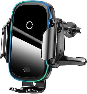 Suporte Inteligente Veicular com Carregador Sem Fio Qi 15 W Car Mount Bracket Ventosa e Grade de Ar 2 em 1 Baseus