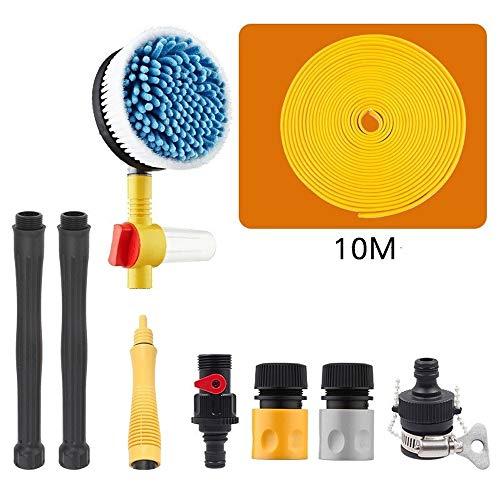 Auto-onderdelen Water Gun Autorotatie autowasseretteborstel hogedrukreiniger Spray auto wassen Foam Lance Auto Wassen Tool (Color : 01black, Size : Free)