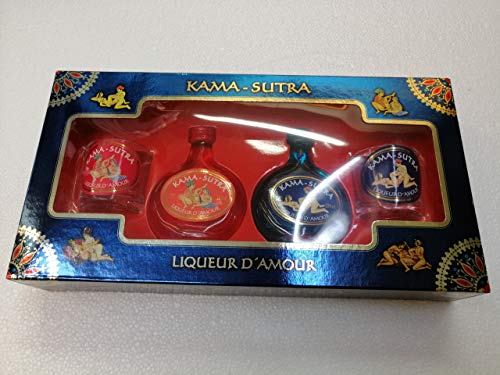 Licor Kama-Sutra cofre 2 botellitas 5cl 20{1778d5bbdc89e95a3b74b1c7ab71e2c181d3e5ecdea6801180421c0793b43472} Alcohol con 2 Vasitos