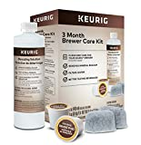 Keurig 3-Month Brewer Maintenance Kit Includes Descaling Solution, Water Filter Cartridges & Rinse...