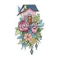 クロスステッチキット 花&鳥 刺繍セット 正確なプリント DIY 初心者 全2種 - 20×33cm 14CT