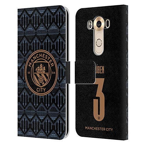 Head Case Designs Officially Licensed Manchester City Man City FC Rúben Dias 2020/21 Players Away Kit Group 2 Leather Book Wallet Case Cover Compatible with LG V10