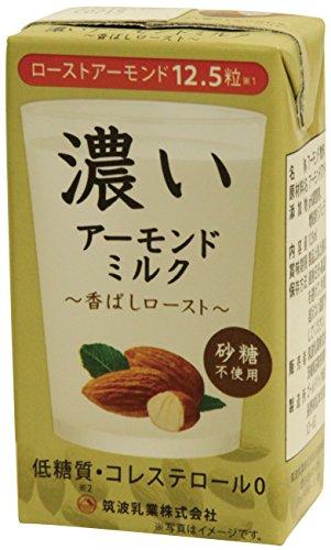 筑波乳業『濃いアーモンドミルク 香ばしロースト』
