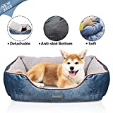 Docatgo Dog Bed, Pet Bed, Pet Bed with Reversible Cushion, Dog Basket,80 X 60 X 26 CM Machine Washable Comfort Bed for Medium Large Dog …