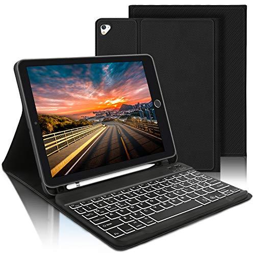 AVNICUD Keyboard Case for iPad 10.2 7th Generation iPad Air 3rd Generation 10.5 Inch iPad Pro 10.5 2017 Bluetooth QWERTZ Keyboard with Smart Case Black
