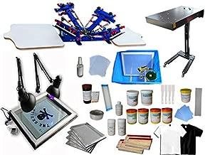 4 Color 2 Station Screen Printing Kit Press Full Set Starter Bundle Kit