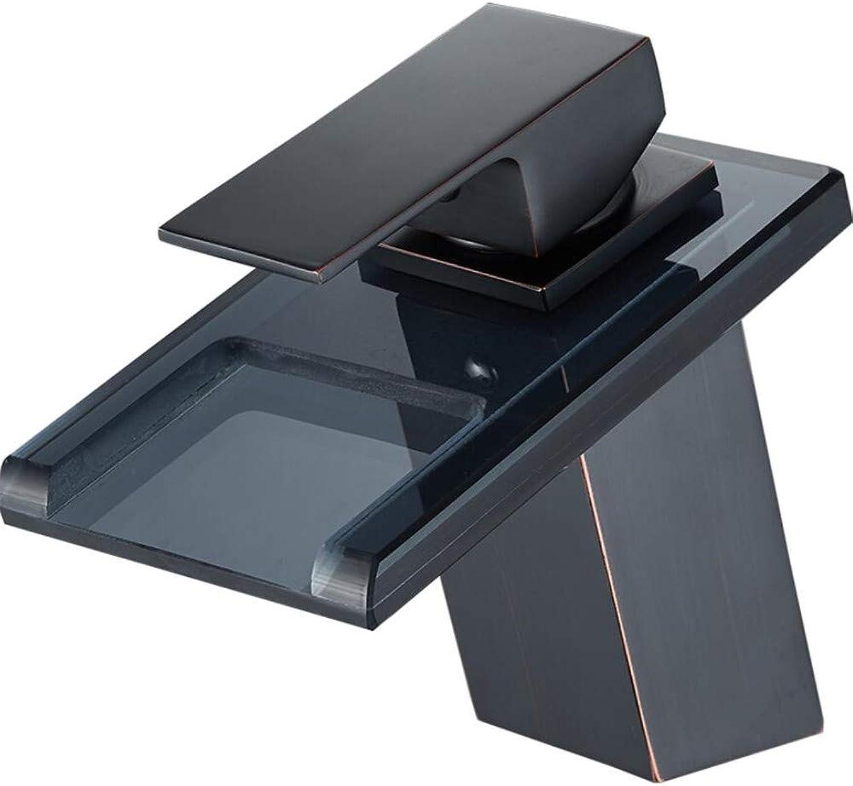 Basin Mixer Tap Black Hot and Cold Basin Faucet Single Hole Copper Main Basin Faucet Wash Basin Faucet