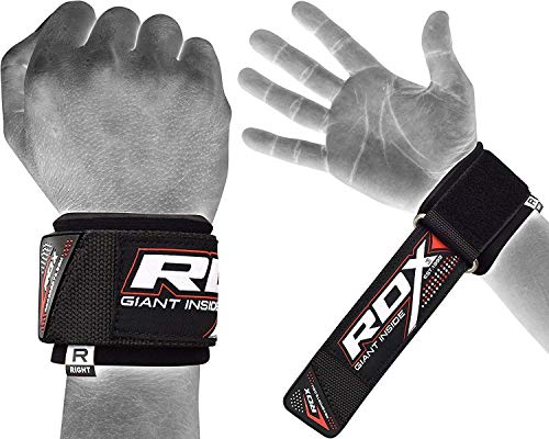 RDX Fasce da Polso per Il Supporto del con Sollevamento Peso | Cinghie Elasticizzate per Allenamento per la Forza, Powerlifting, Bodybuilding