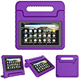 TIRIN Kids Case for All-New Fire 7 2019 - Light Weight Shock Proof Convertible Handle Stand Kid-Proof Case for All-New Amazon Fire 7 Tablet(9th Generation - 2019 Release)(7' Display), Purple