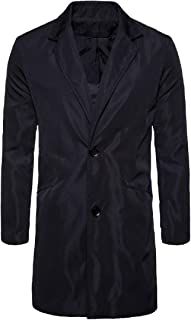 XINHEO Men's Two-Button Travel Safari Work to Weekend Trench Coat