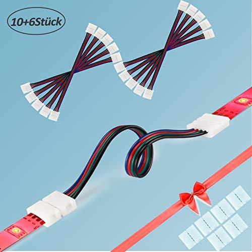 Quick Verbinder Connector für RGB LED-Streifen 10mm ; L-Verbinder Eckverbinder