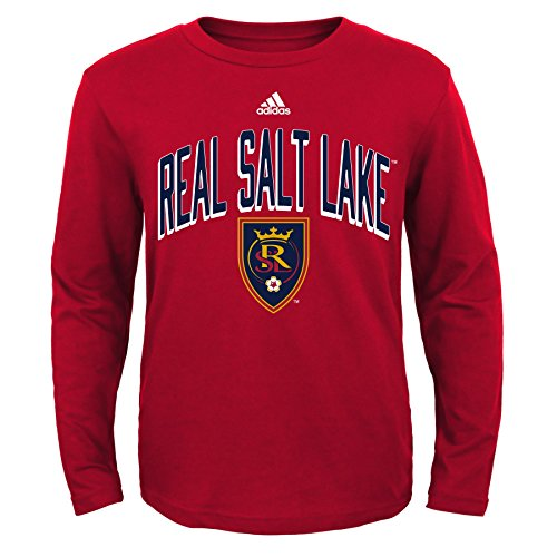 Outerstuff MLS Real Salt Lake Boys Arched Standard L/S Tee, Team Color, Youth Large (12-14)