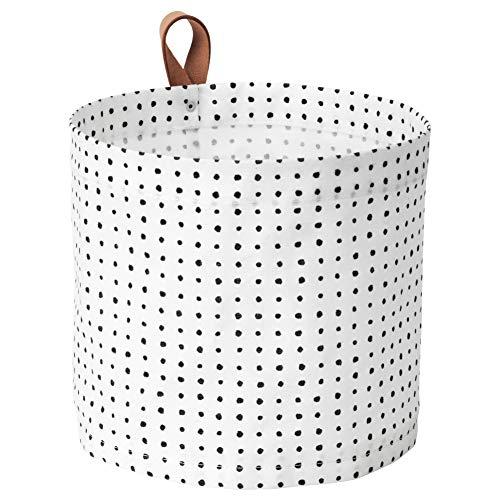 Ikea PLUMSA Korb in weiß/schwarz; (11l)