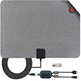 TV Antenna,Indoor Amplified Digital HDTV Antenna 120+ Mile Range with 4K 1080P HD VHF UHF Freeview TV for Life Local Channels Broadcast for All Types of Home Smart Television