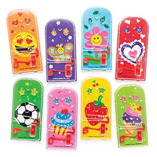Baker Ross AW731 Gemischte Themen Mini-Flipper (6er-Pack) Perfekt als Kindergeschenke, Halloween-Partyartikel, Pinata-Füller oder Geburtstagsgeschenke, Sortiert